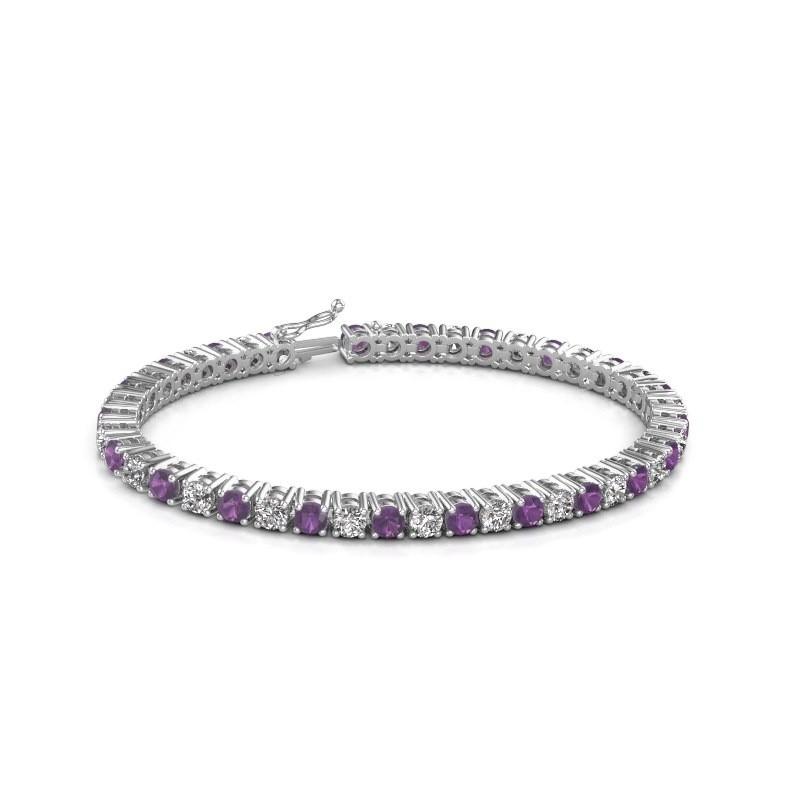 Tennis bracelet Karin 375 white gold amethyst 4 mm