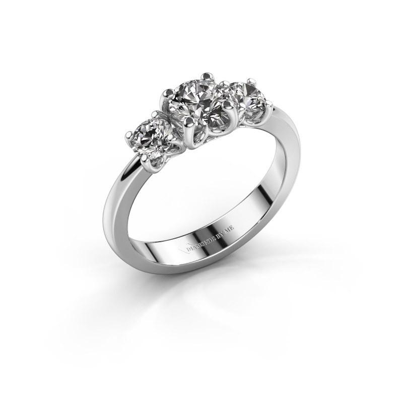 Verlovingsring Detra 585 witgoud diamant 1.00 crt