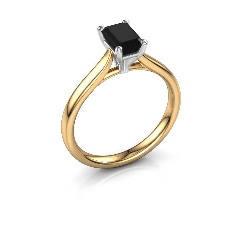 Verlobungsring Mignon eme 1 585 Gold Schwarz Diamant 1.08 crt