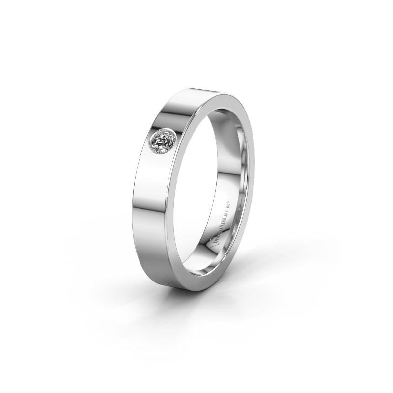 Alliance WH0101L14BP 925 argent diamant ±4x1.5 mm