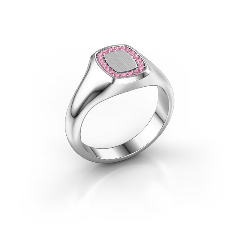 Men's ring Floris Cushion 1 925 silver pink sapphire 1.2 mm