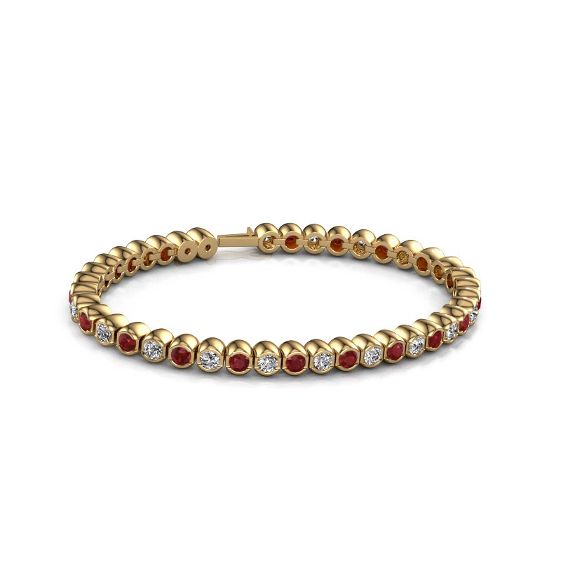 Tennisarmband Bianca 3.5 mm 375 goud robijn 3.5 mm