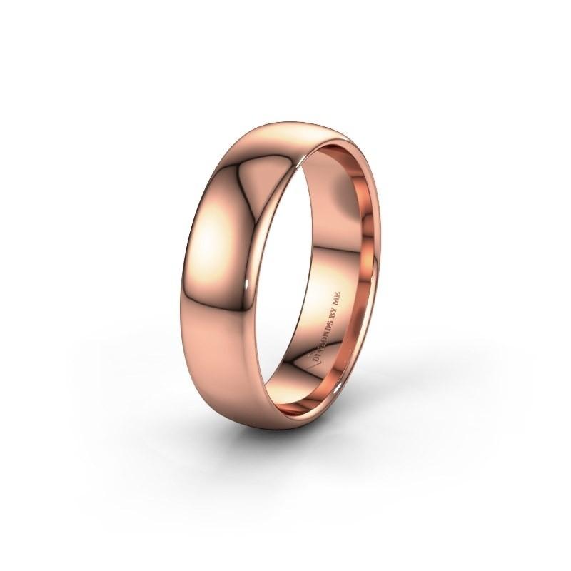 Wedding ring WH0100M36AP 375 rose gold ±0.24x0.07 in