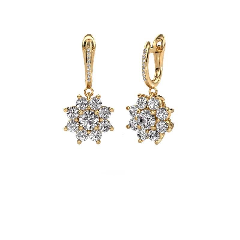 Oorhangers Camille 2 375 goud diamant 2.965 crt