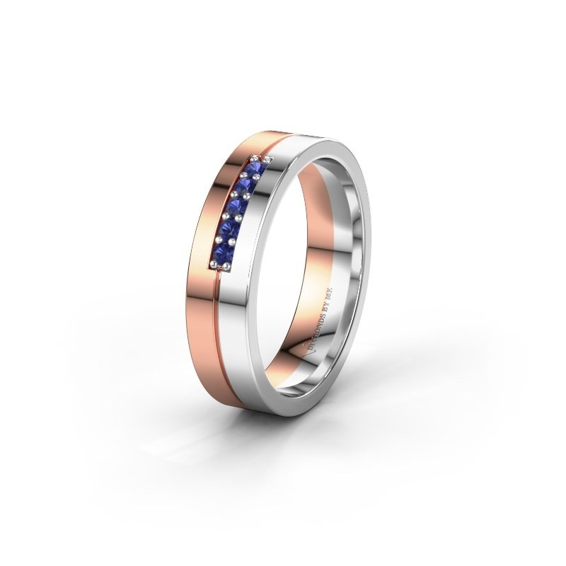 Wedding ring WH0211L15AP 585 rose gold sapphire ±0.20x0.07 in
