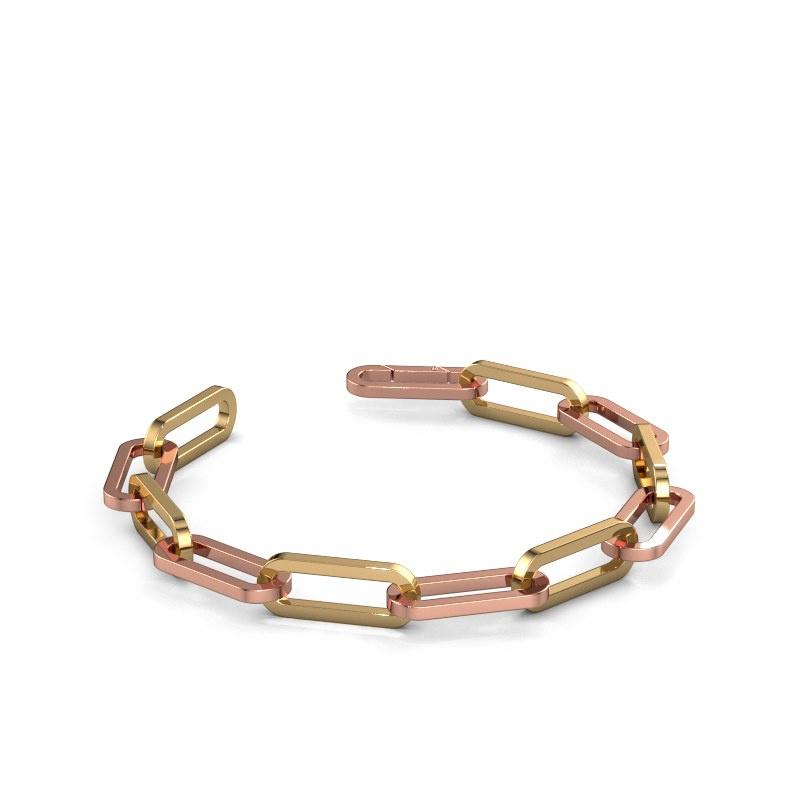 Armband CFE sqr 8.0 585 rosé goud ±8 mm