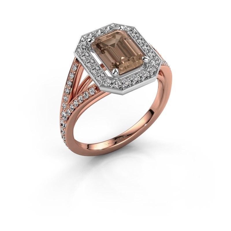 Promise ring Angelita EME 585 rosé goud bruine diamant 2.279 crt