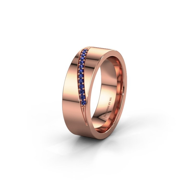 Wedding ring WH2146L17A 375 rose gold sapphire ±0.28x0.07 in