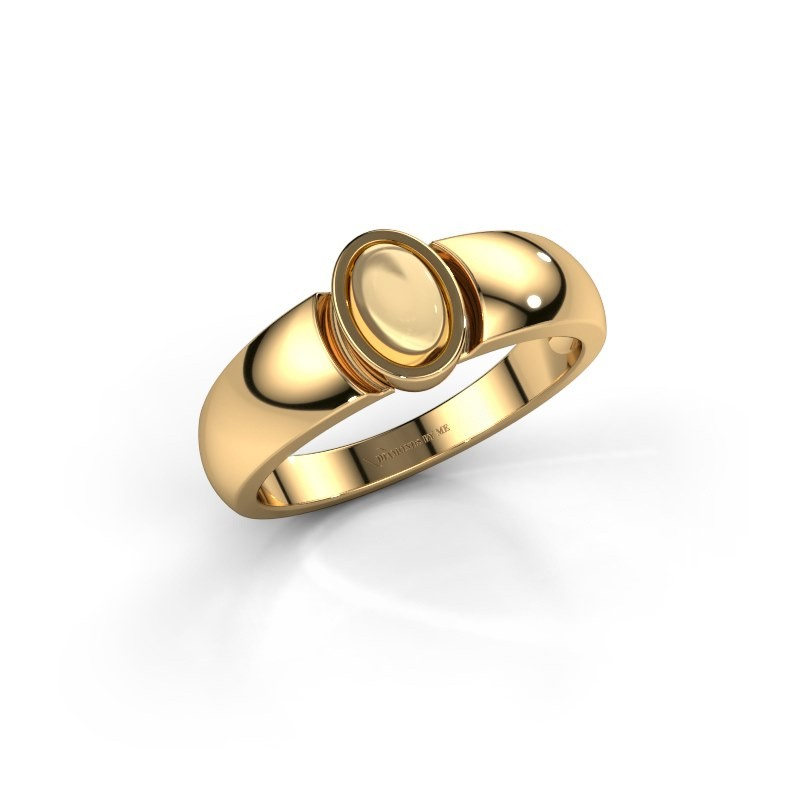 Ring Tonneke 585 gold citrin 6x4 mm