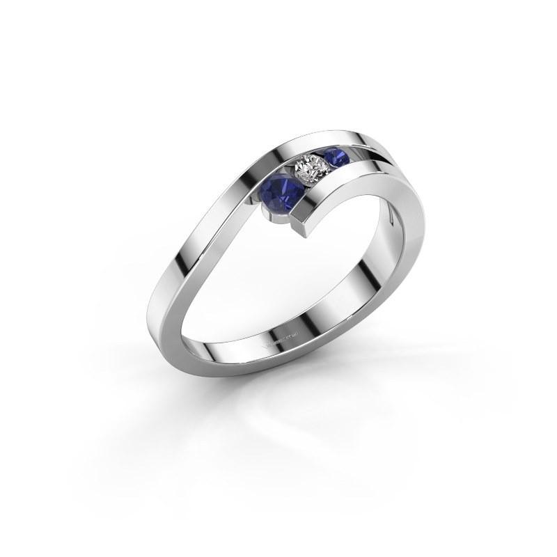 Ring Evalyn 2 925 zilver saffier 2.8 mm
