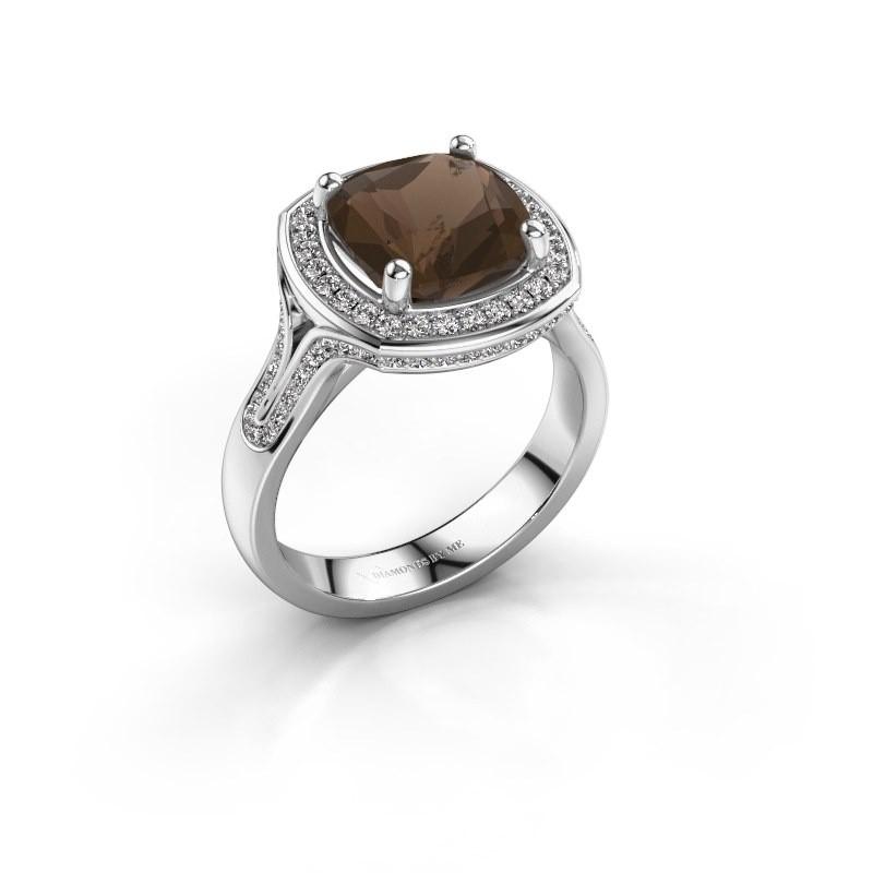 Ring Lili 925 zilver rookkwarts 9 mm
