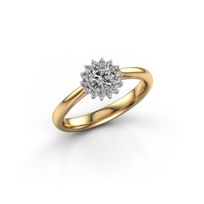 Engagement ring Tilly RND 1 585 gold zirconia 4.2 mm