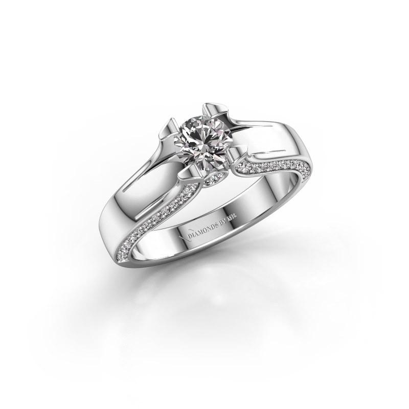 Verlovingsring Jeanne 1 585 witgoud diamant 0.82 crt