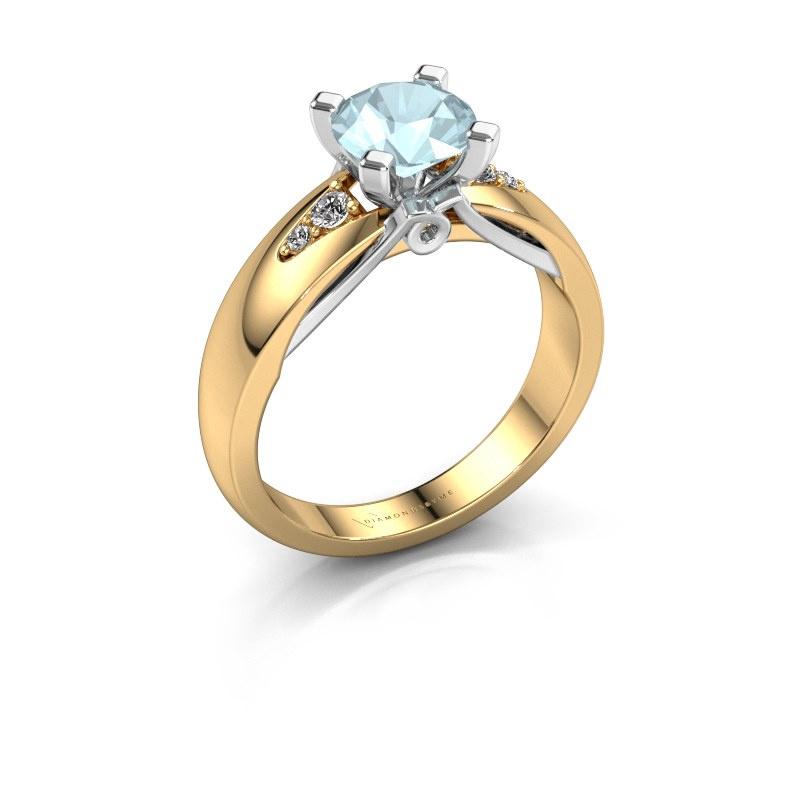 Engagement ring Ize 585 gold aquamarine 6.5 mm