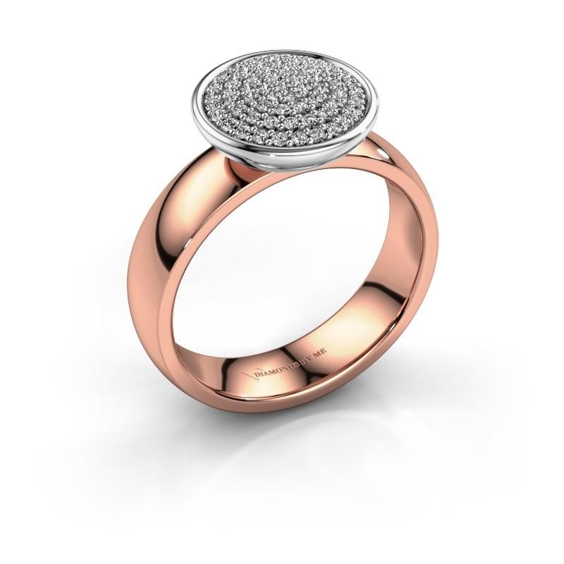 Ring Tilda 585 rosé goud lab-grown diamant 0.305 crt
