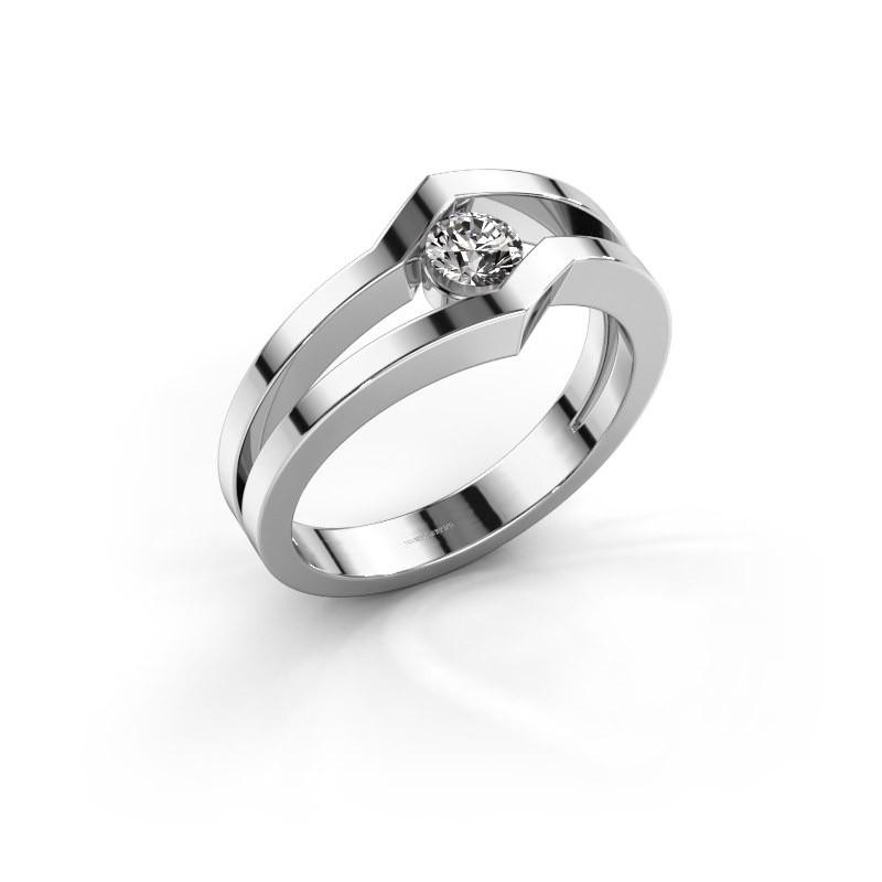 Ring Elize 585 witgoud diamant 0.25 crt