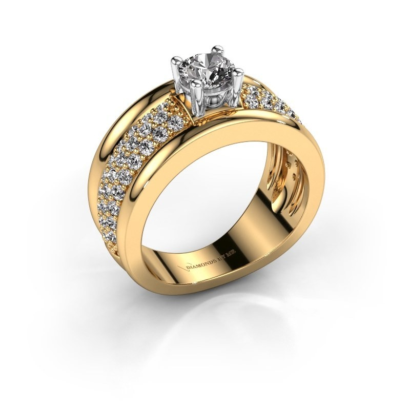 Ring Alicia 585 goud zirkonia 5 mm