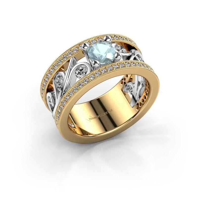 Ring Sanne 585 goud aquamarijn 5 mm