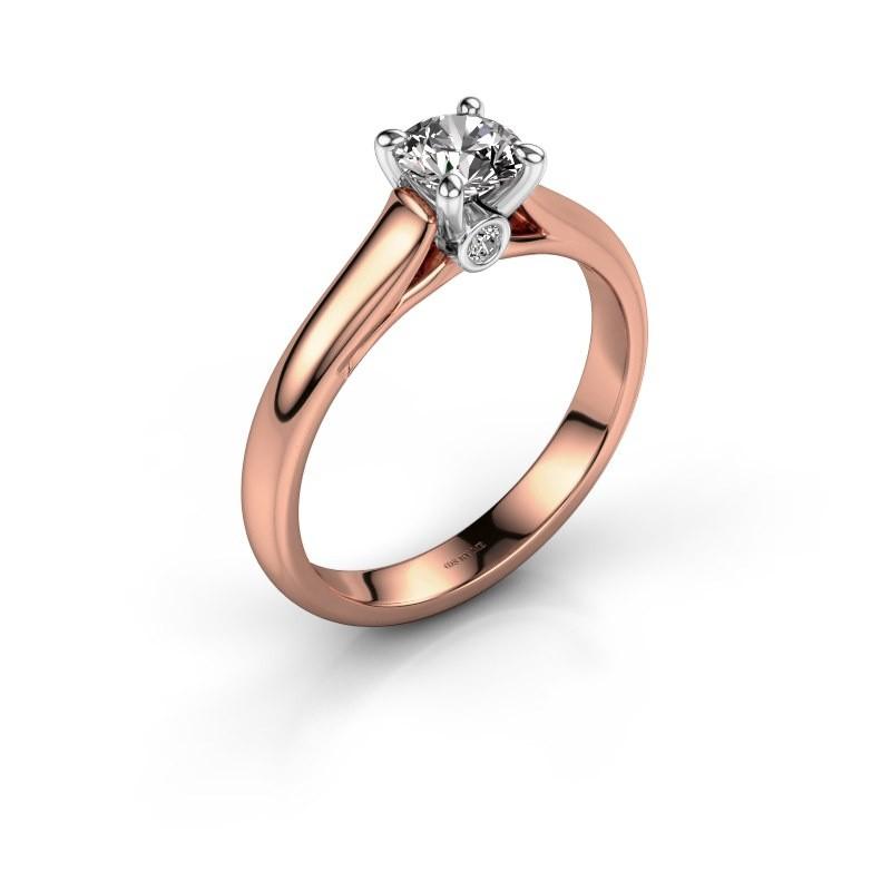 Verlovingsring Valorie 1 585 rosé goud diamant 0.50 crt