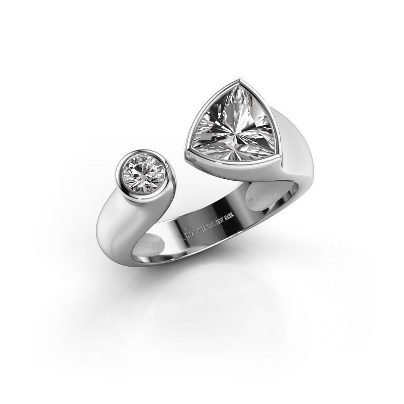 Ring Latisha 950 platina zirkonia 7 mm