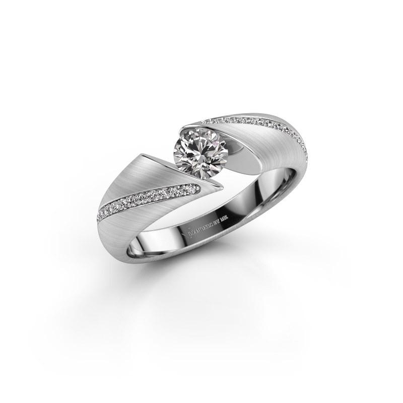 Verlovingsring Hojalien 2 925 zilver diamant 0.52 crt