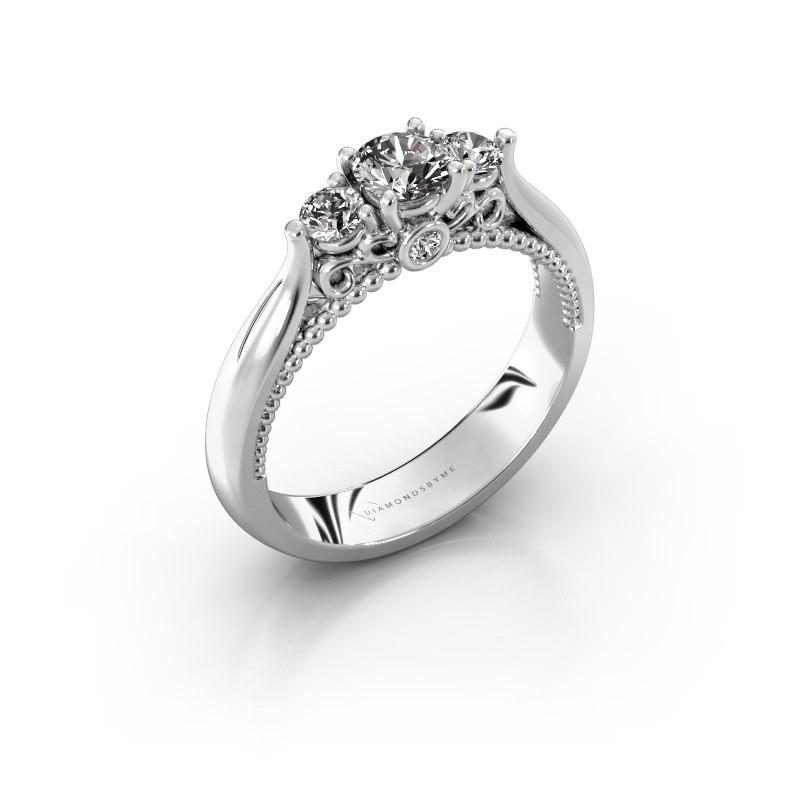 Verlovingsring Tiffani 585 witgoud diamant 0.54 crt