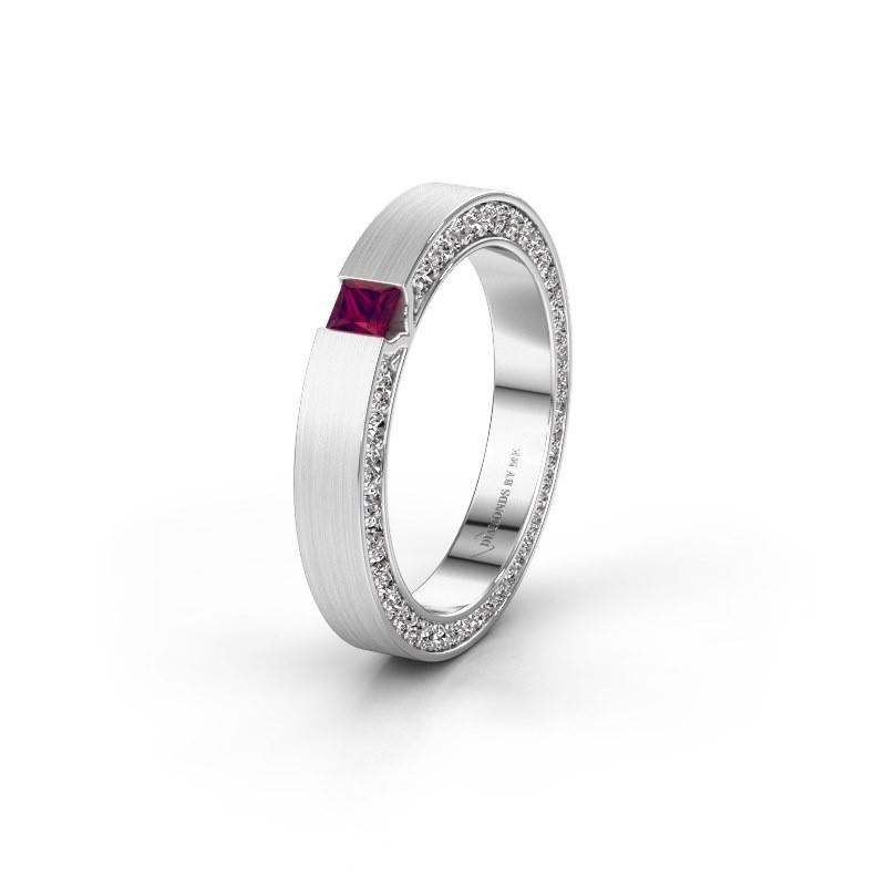 Wedding ring WH2140L14B 950 platinum rhodolite ±3,5x2 mm