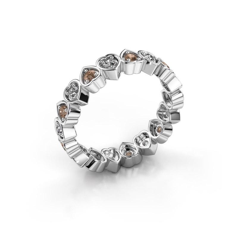 Bague superposable Pleun 585 or blanc diamant brun 0.54 crt