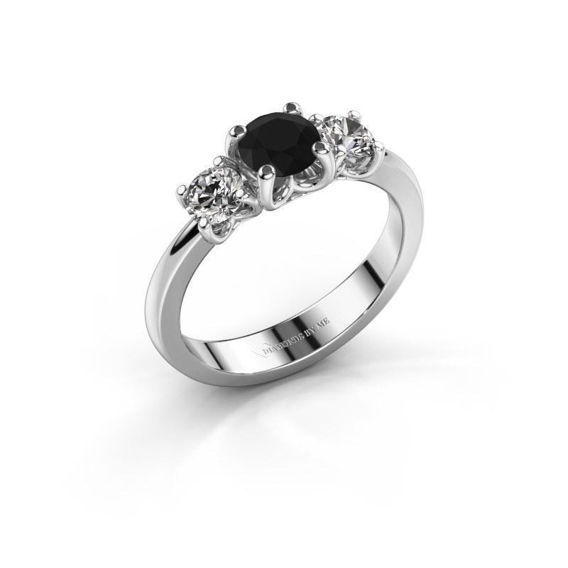 Verlobungsring Detra 950 Platin Schwarz Diamant 1.10 crt