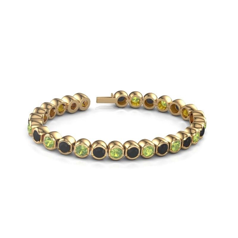 Tennisarmband Delma 375 goud peridoot 5 mm