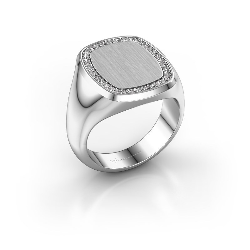 Heren ring Floris Cushion 4 950 platina zirkonia 1.2 mm