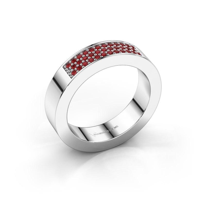 Ring Lindsey 1 950 platina robijn 1.1 mm