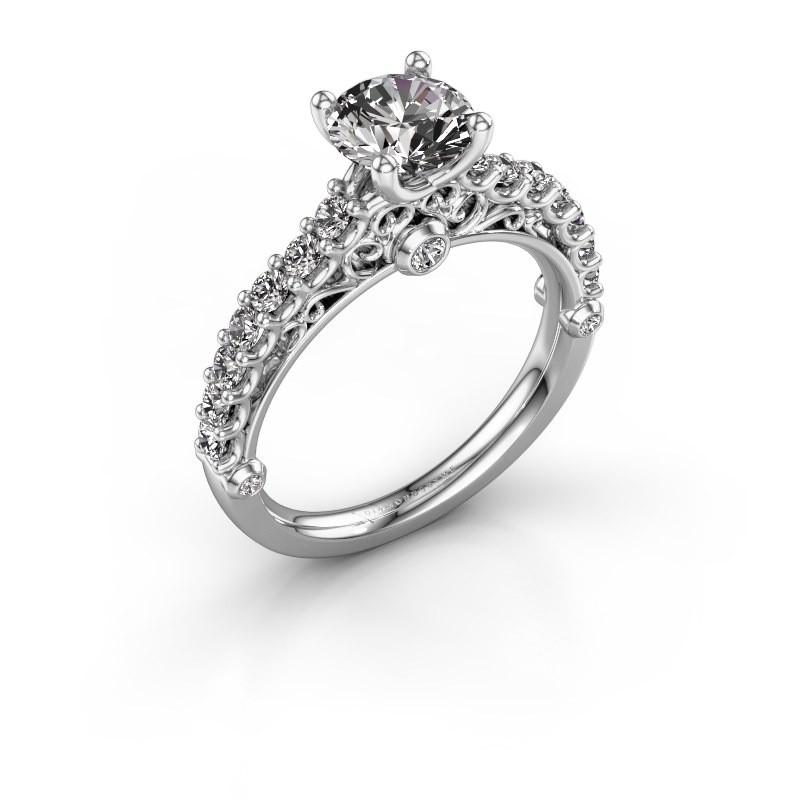 Verlovingsring Shaunda 950 platina diamant 1.50 crt