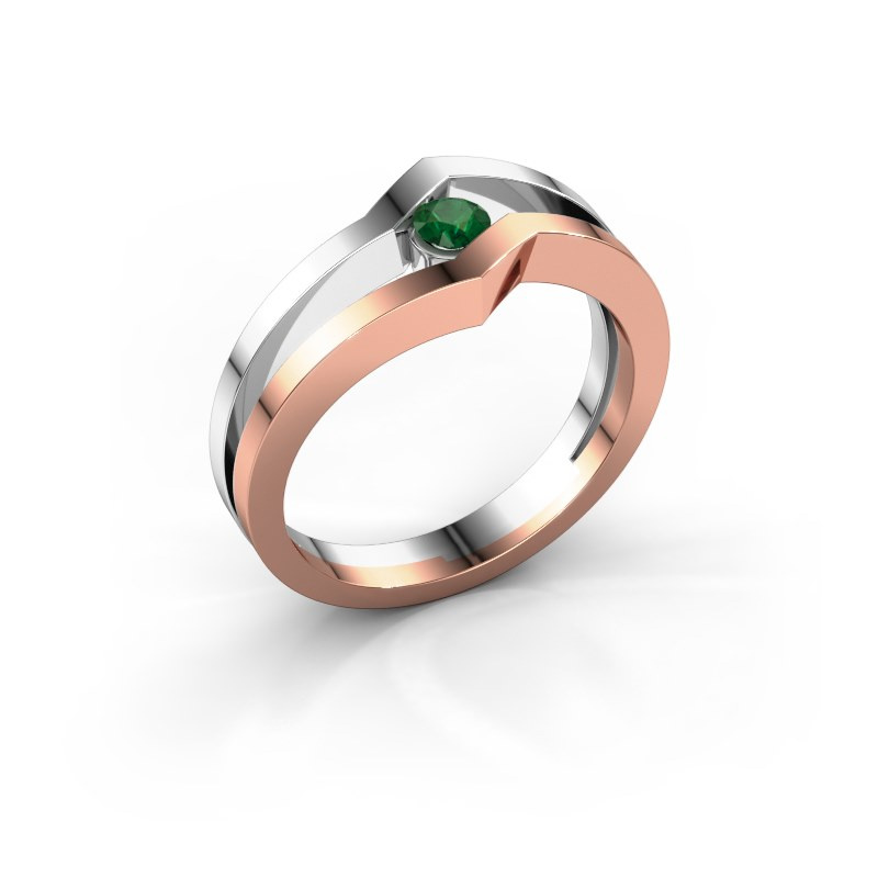 Ring Elize 585 rose gold emerald 3.4 mm