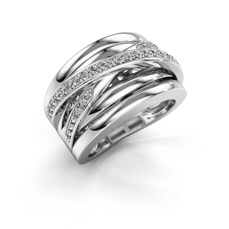 Bague Clair 3 585 or blanc diamant 0.495 crt