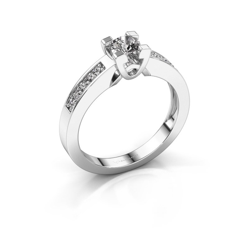 Verlovingsring Nina 2 585 witgoud lab-grown diamant 0.460 crt