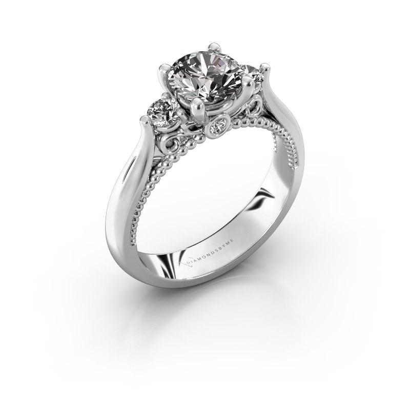 Verlovingsring Tiffani 950 platina diamant 1.24 crt