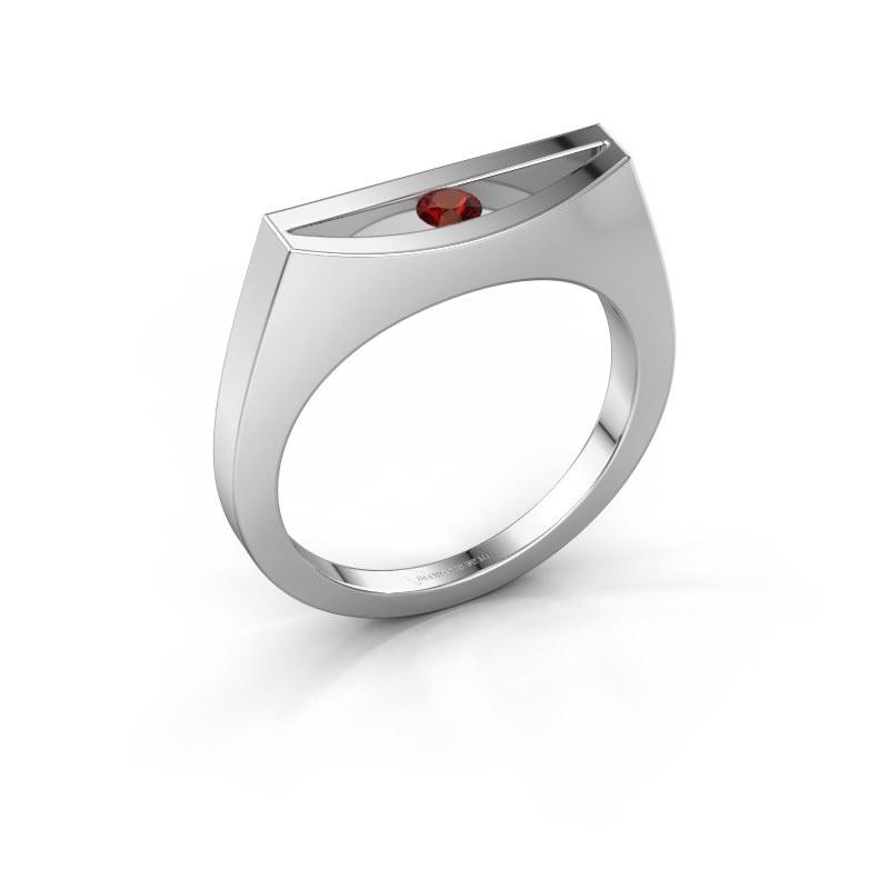 Ring Milou 950 platinum garnet 3 mm