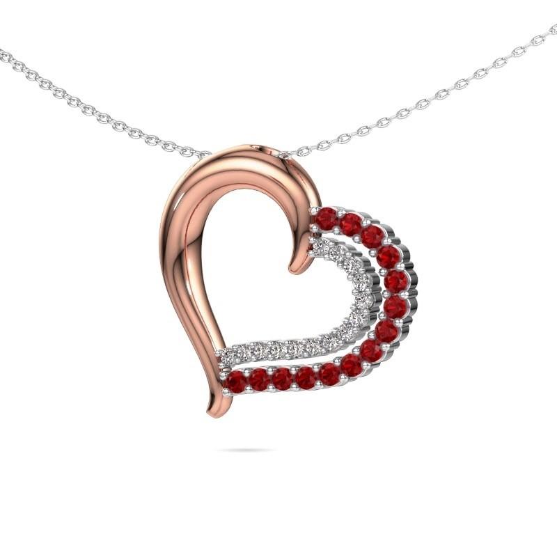 Necklace Kandace 585 rose gold ruby 1.9 mm