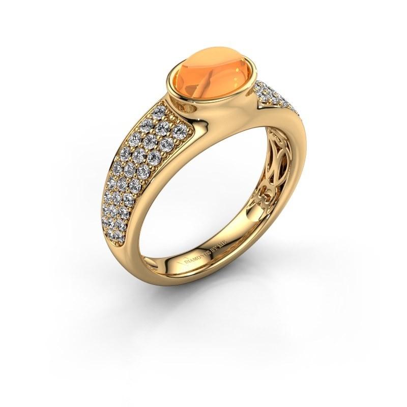 Ring Tatyana 585 goud citrien 7x5 mm