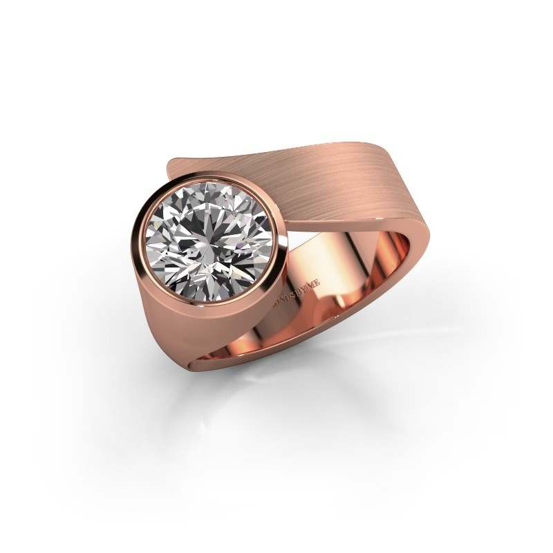 Ring Nakia 375 rose gold zirconia 8 mm