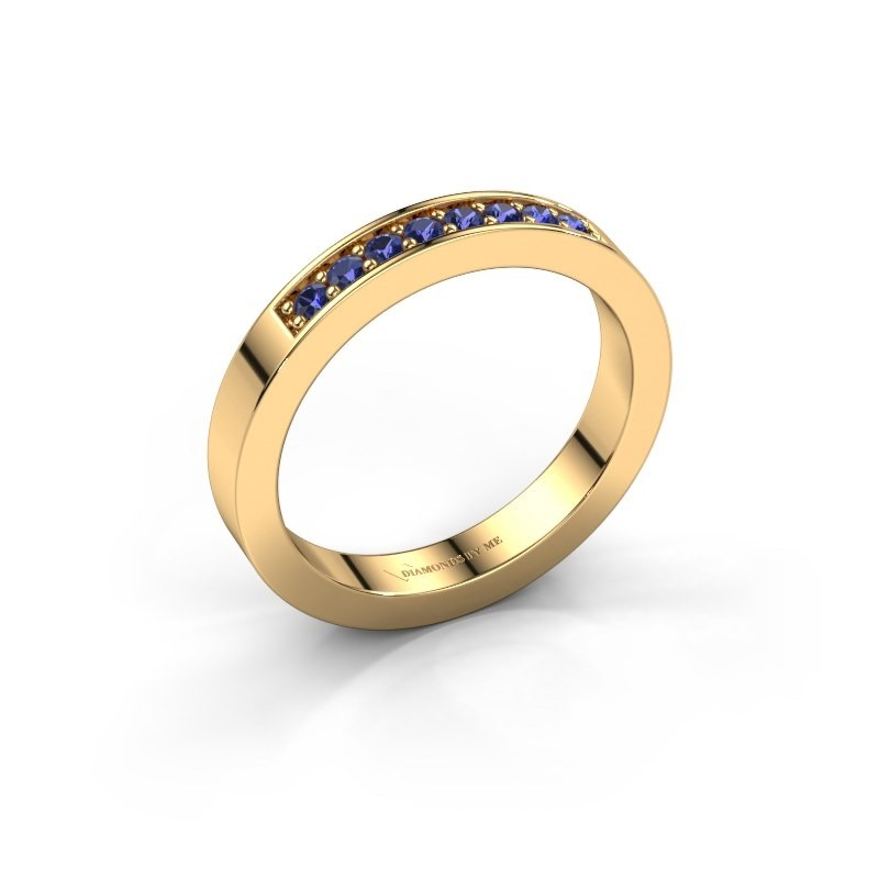Stackable ring Loes 5 585 gold sapphire 1.7 mm