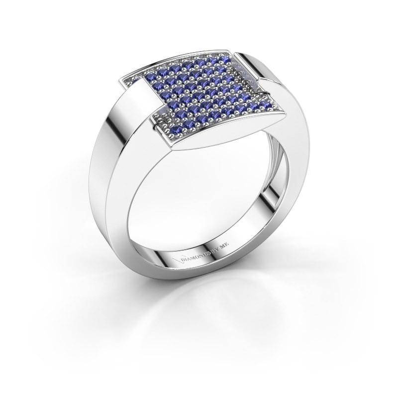 Ring Silke 950 platina saffier 1.2 mm