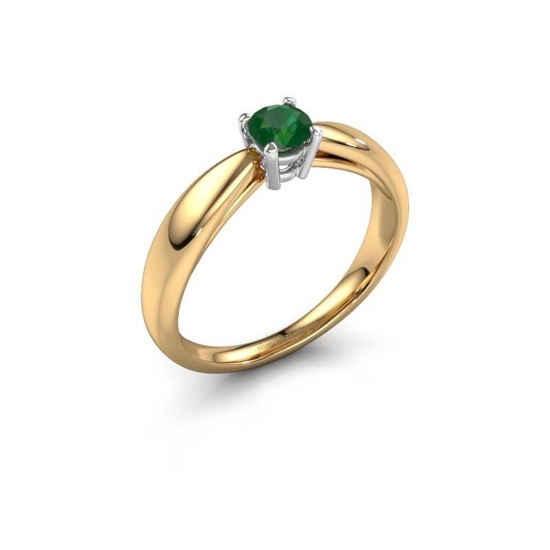 Verlovingsring Nichole 585 goud smaragd 4.2 mm