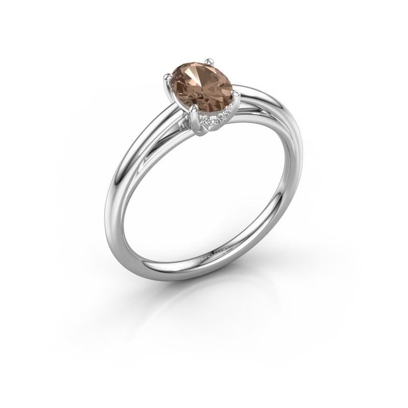 Verlovingsring Haley OVL 1 950 platina bruine diamant 0.80 crt