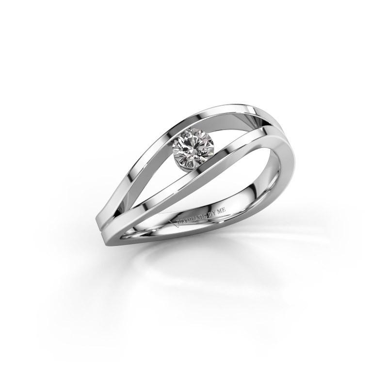 Engagement ring Sigrid 1 950 platinum zirconia 3.7 mm