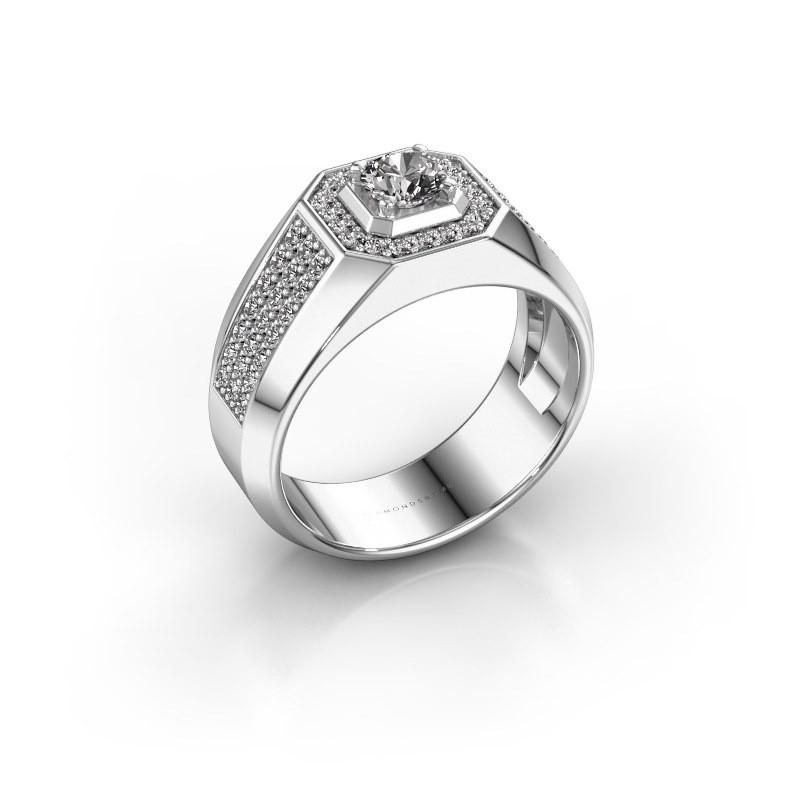 Heren ring Pavan 375 witgoud diamant 0.943 crt