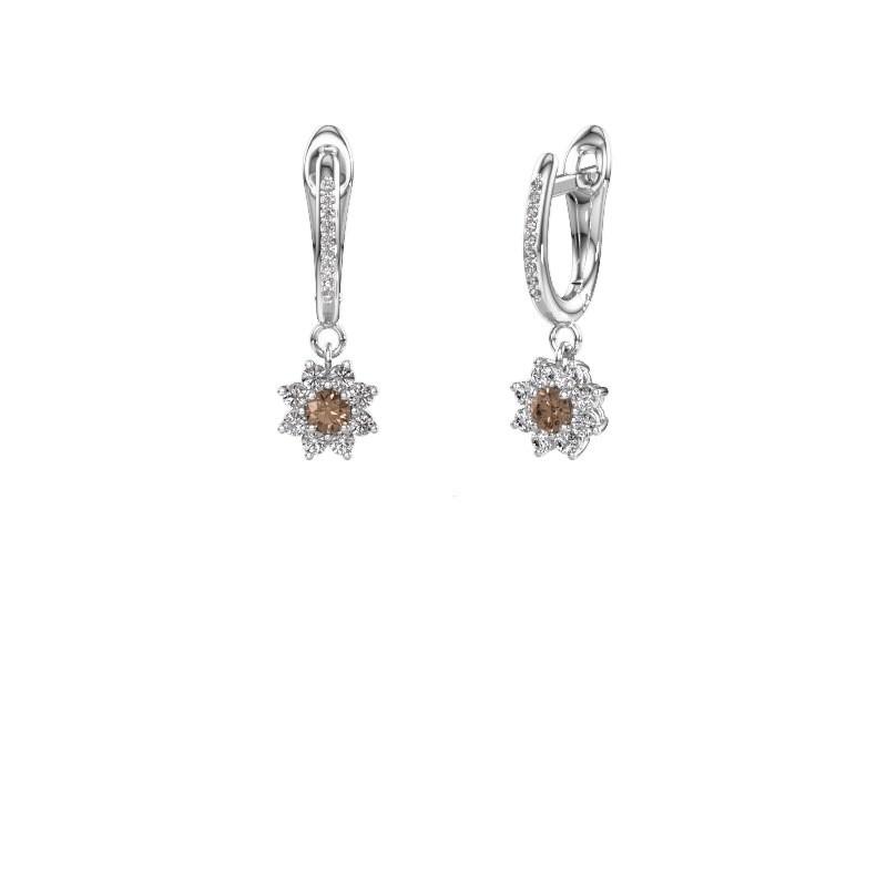 Oorhangers Camille 2 950 platina bruine diamant 0.565 crt