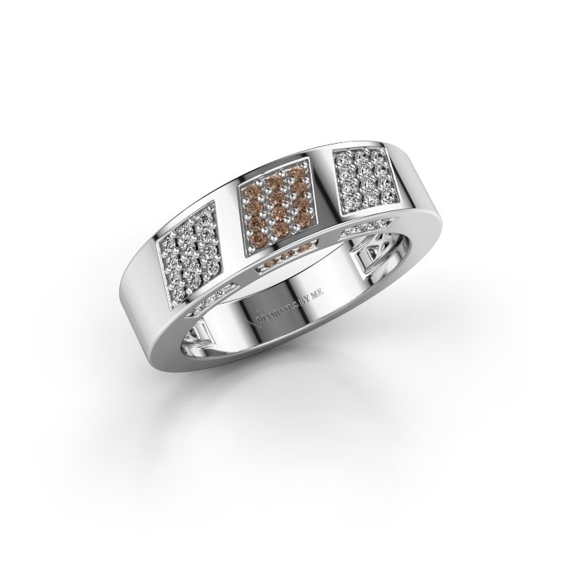 Ring Jessika 950 platinum brown diamond 0.30 crt