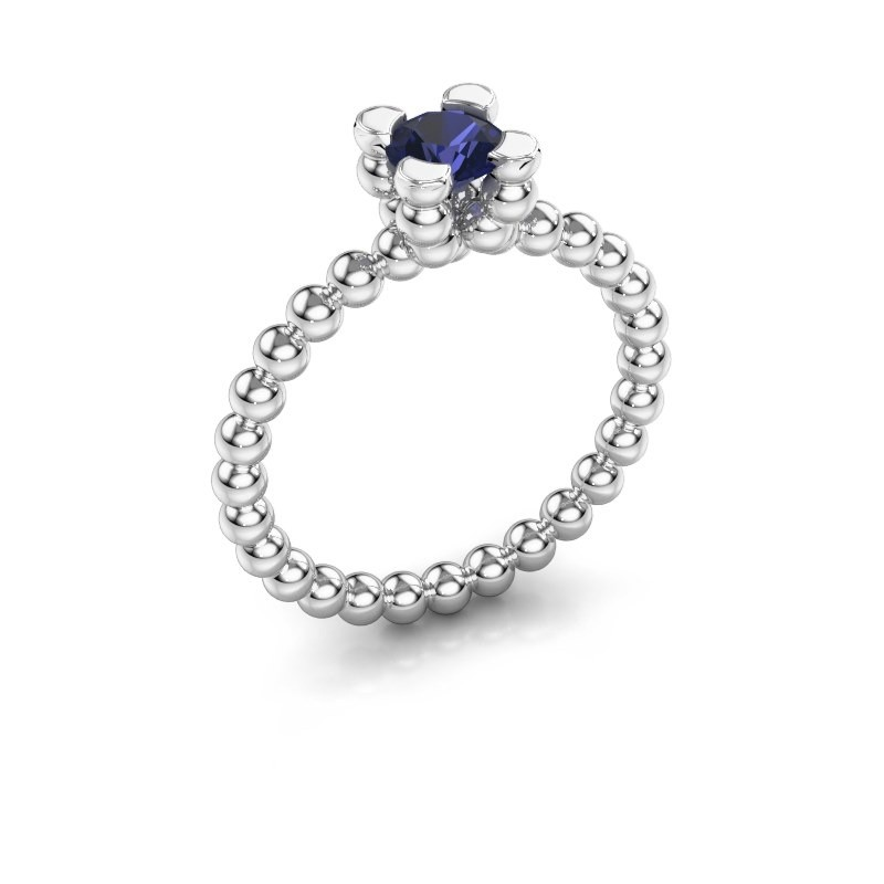 Ring Aurore 950 platina saffier 5 mm